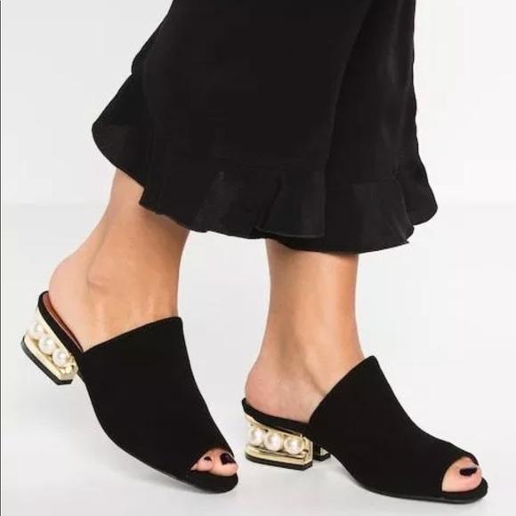 719f2587ca5 Jeffrey Campbell Shoes - Jeffrey Campbell Arcita Pearl Heel Slides 7.5